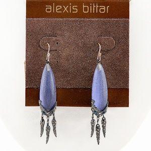 Alexis Bittar Crystal Encrusted Gunmetal Earrings